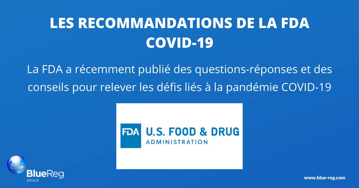 recommandations FDA COVID-19